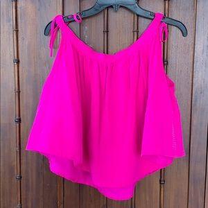 Cynthia Rowley pink silk top